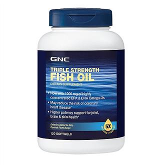 GNC鱼油 健安喜三重鱼油胶囊120粒中老年降血压血脂735322 保护心脏
